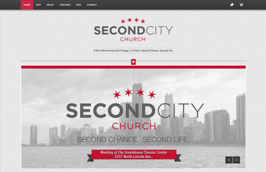 Second City Church Website