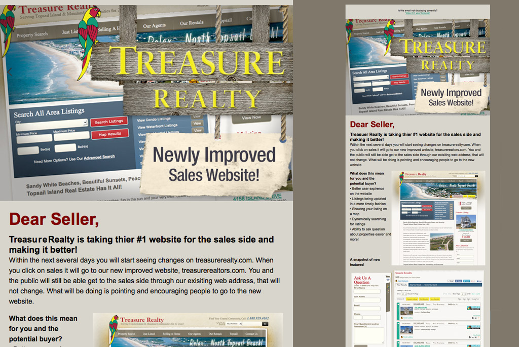 real estate new sales email template