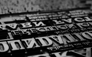 typesetting with movable type