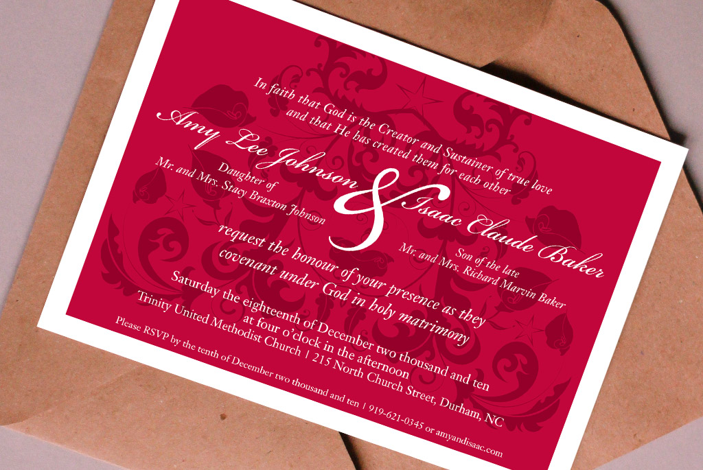 Holiday Wedding Invitation