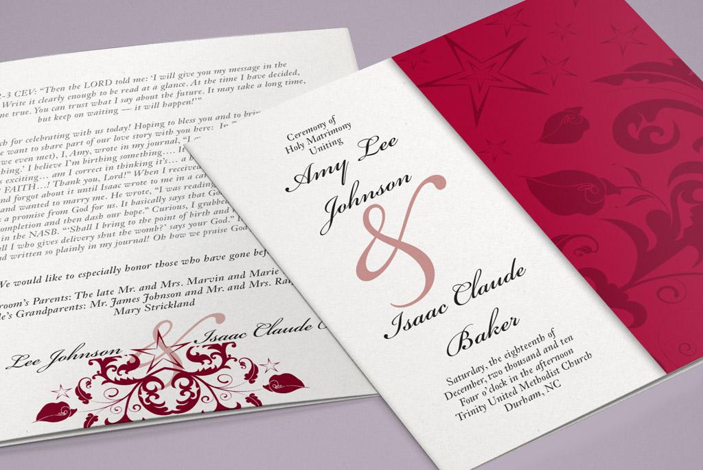 Holiday Wedding Program