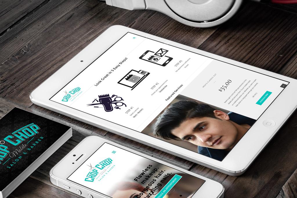 CHOP CHOP Mobile Salon Responsive Website