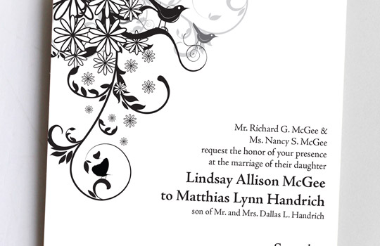 L&M Wedding Save The Date and Program